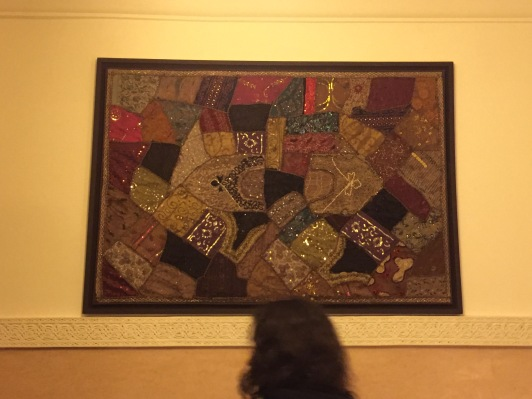 Moroccan art in our room